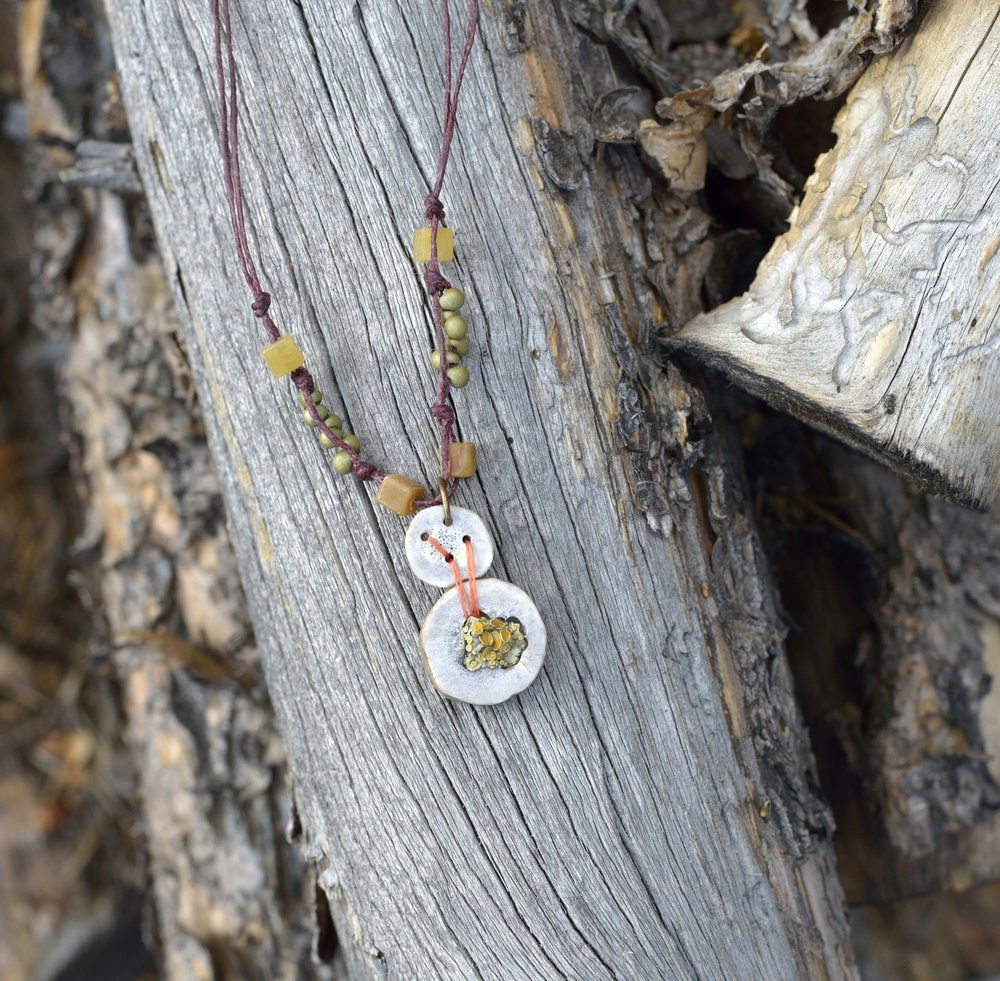Stacked Antler Blossom Necklace