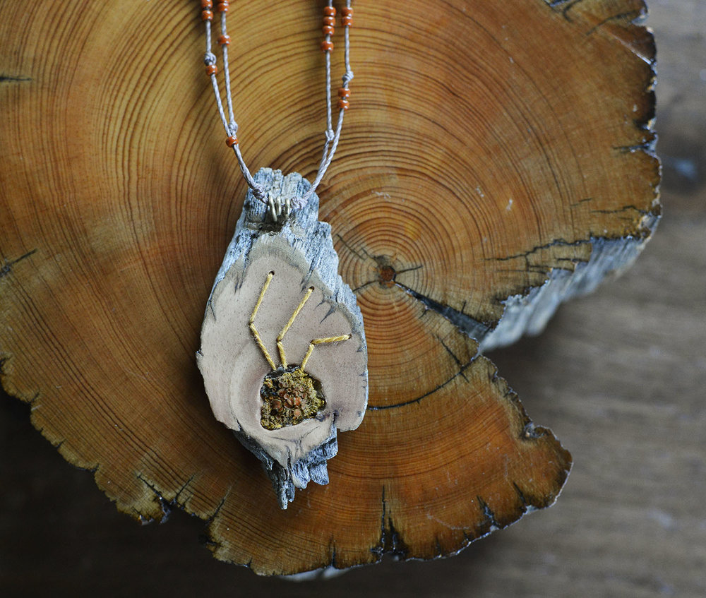 Bristlecone Sunburst Lichen Necklace