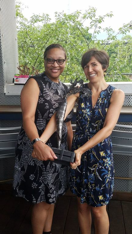 Sara Berney and Denise Blake, Wholesome Wave Georgia's first and second Executive Directors.