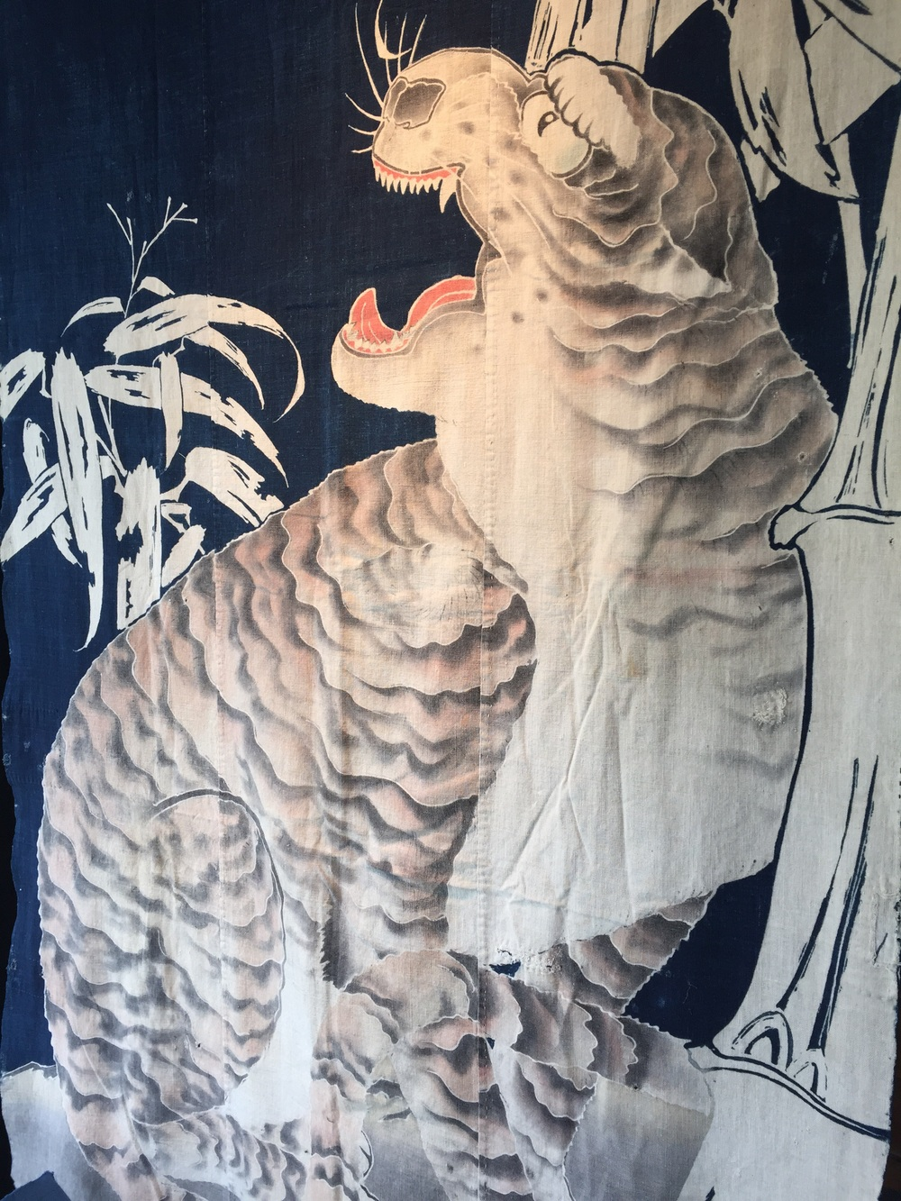 Japanese cotton futon with tiger.