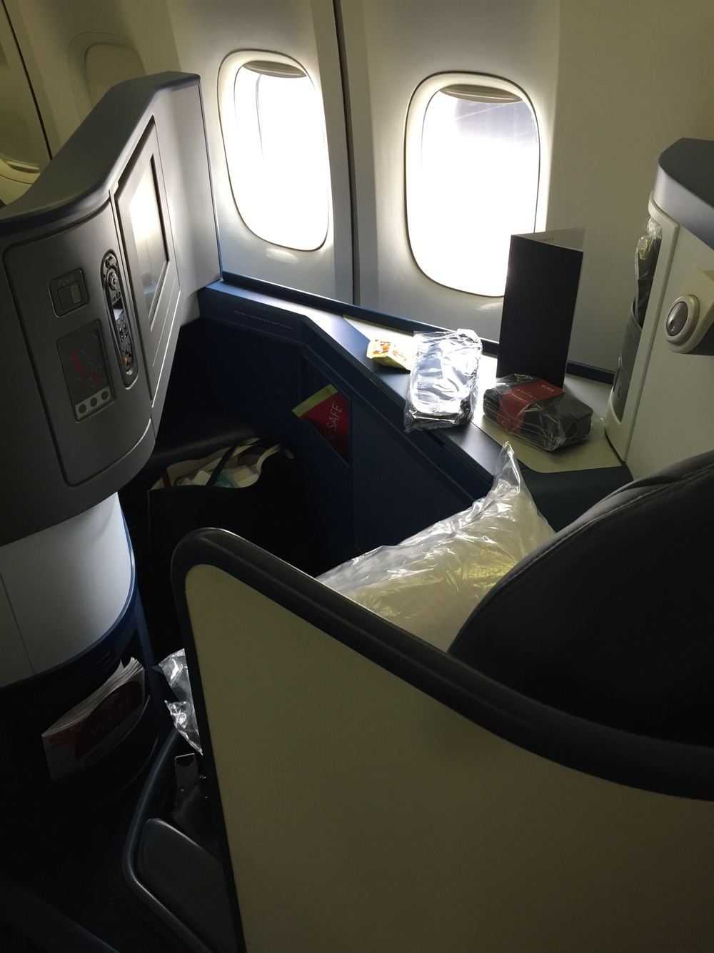 Business class on Delta is great. Good thing we have all those Amex miles!
