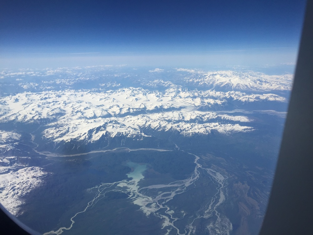 Flying over Alaska.