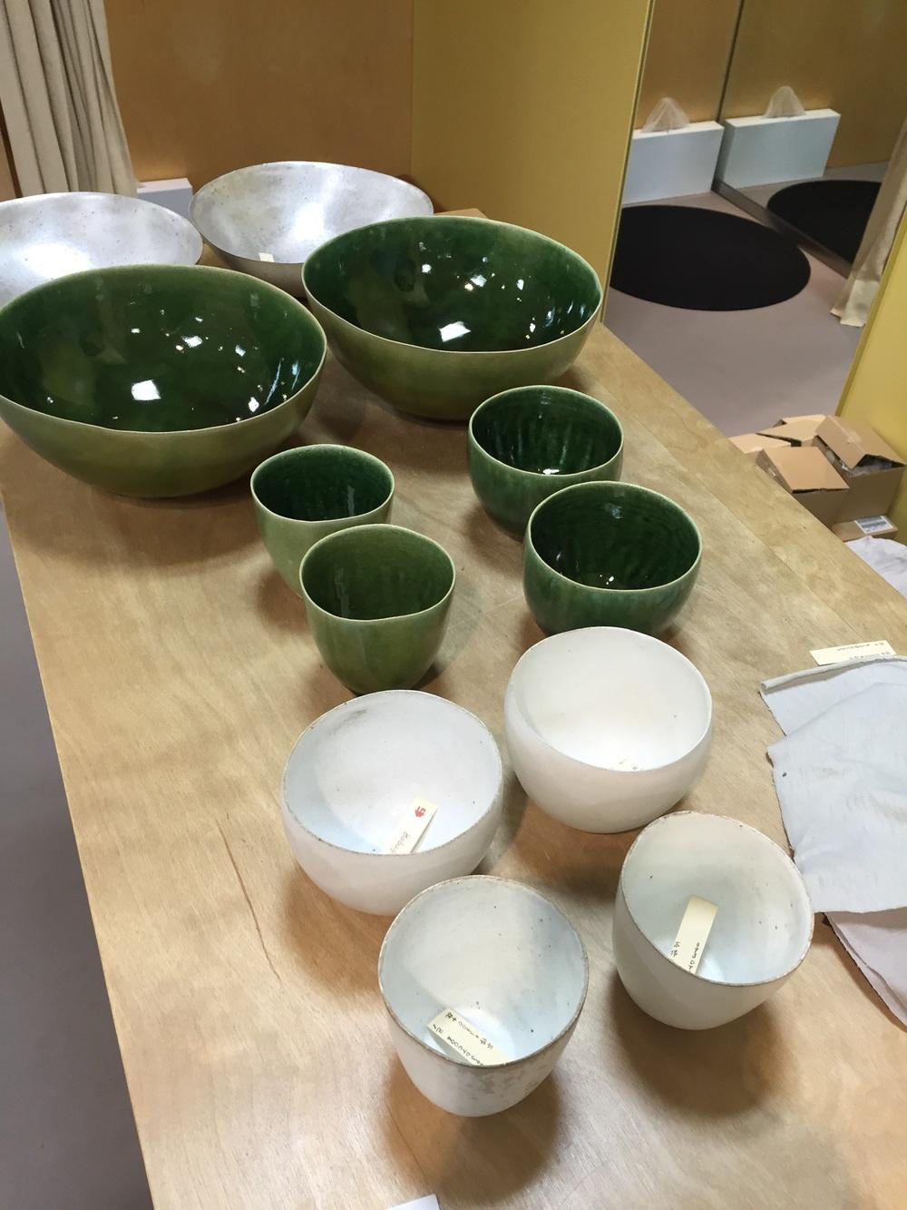 Jurgen Lehl's ceramics are on their way to Asiatica.