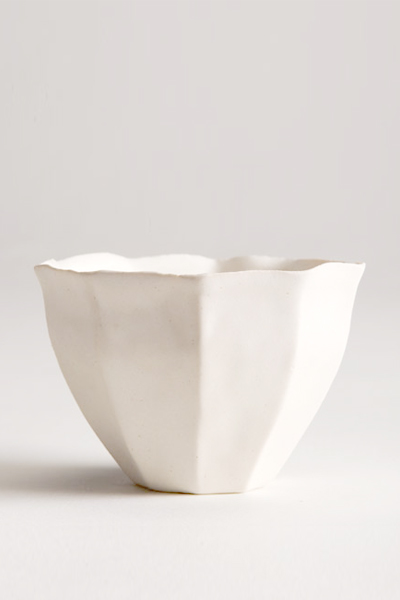 Fluted White Cup