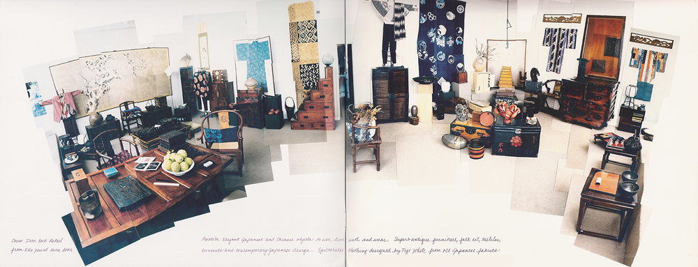 Above: Interior of Asiatica's original shop (Hockney-style / ph. Hollis Officer)