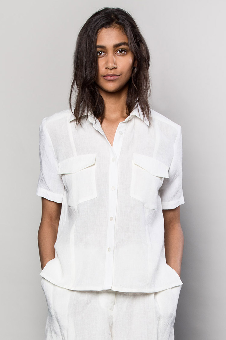 The Asiatica   Camp Shirt in White Italian Linen   is a perfectly timeless and universally loved style. $595