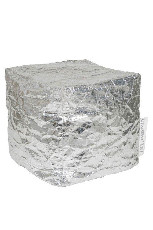 This Essent'ial Silver Paper Pouf is for the modernist mom who knows mixing some metallic shine into your decor reveals meteorite vision. $250