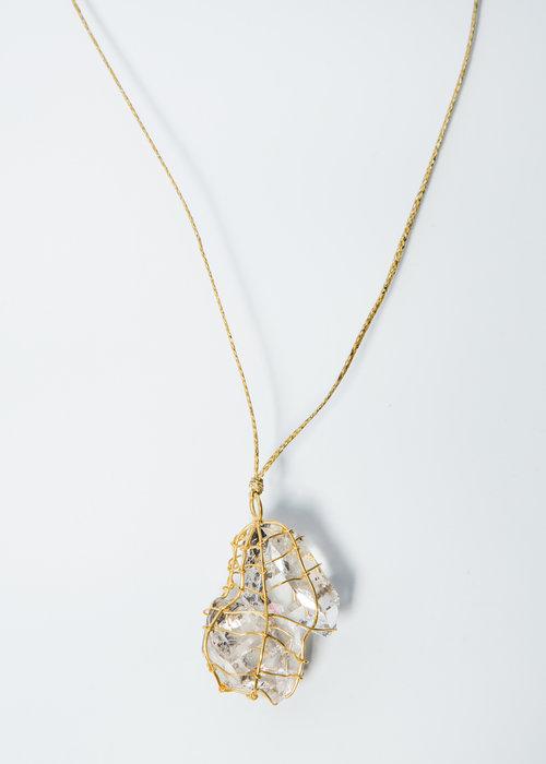 Pippa small 18k gold wrapped herkimer diamond quartz pendant pippa small 18k gold wrapped herkimer diamond quartz pendant aloadofball Image collections