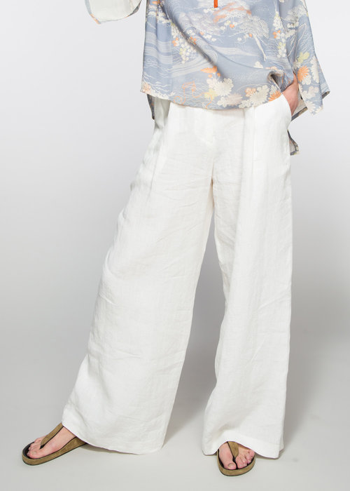 ff25671a327f Wide Leg Pant in White Linen — ASIATICA