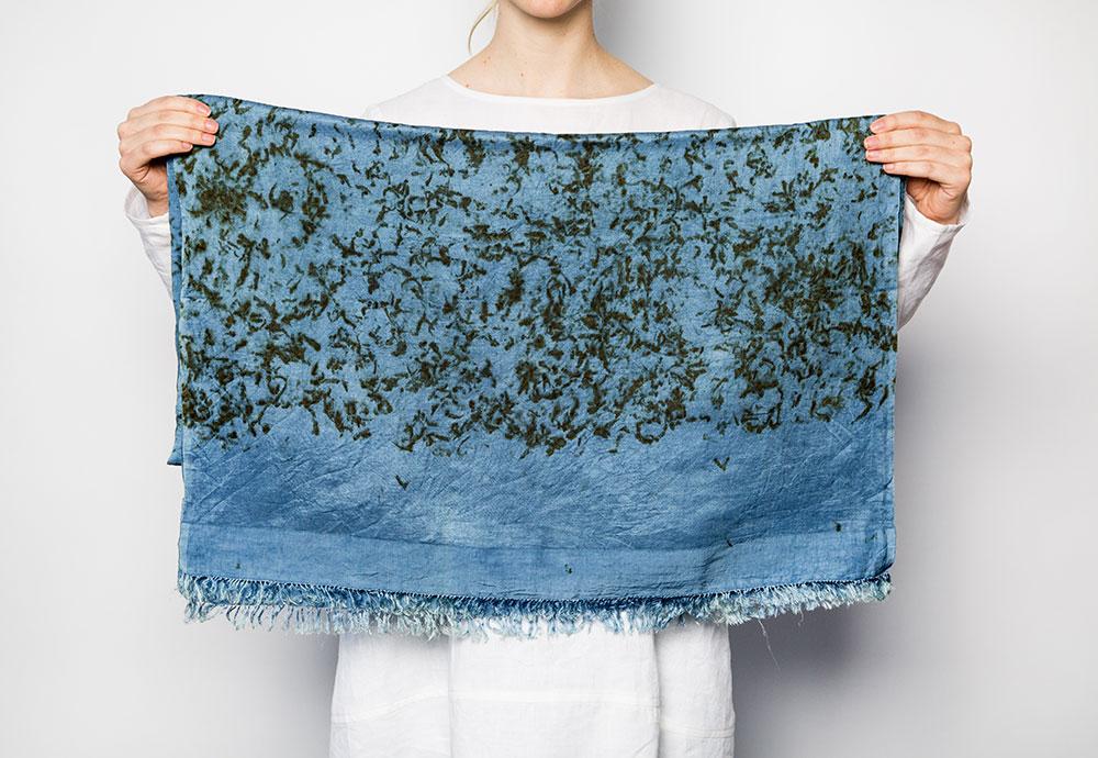 Dosa Indigo Hand Dyed Linen/Silk Scarf  $275