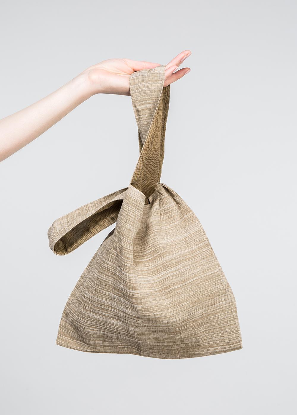 Hobo Bag in Vintage Japanese Tan Linen  $225
