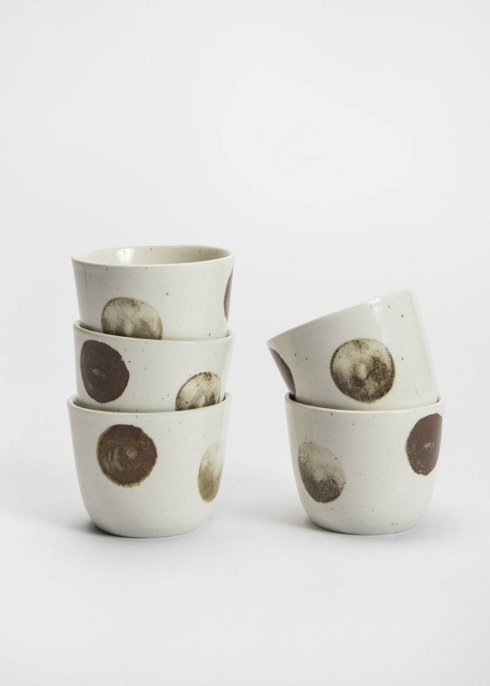 Japanese Stoneware Cups with Dots  $9 each