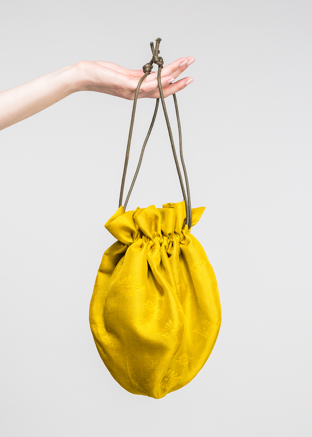 Marble Bag in Vintage Japanese Chartreuse Silk   (SOLD)
