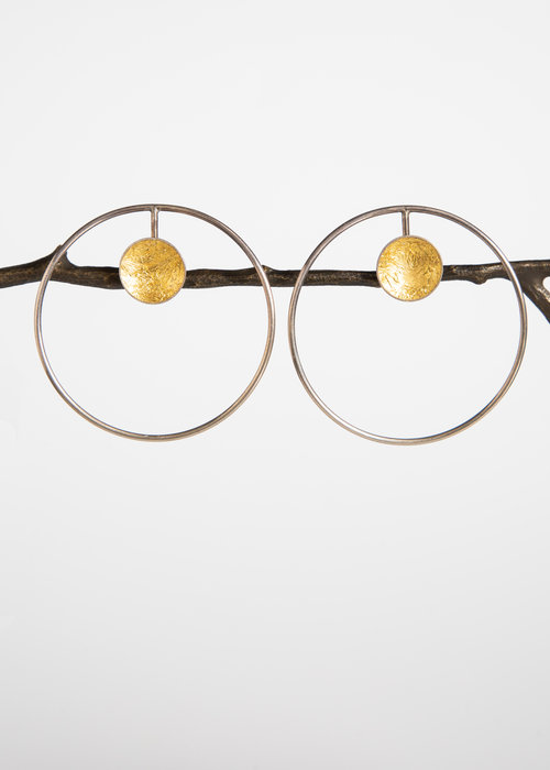 Gatto Bianco Gold Vermeil Posts With Detachable Silver Hoops Asiatica