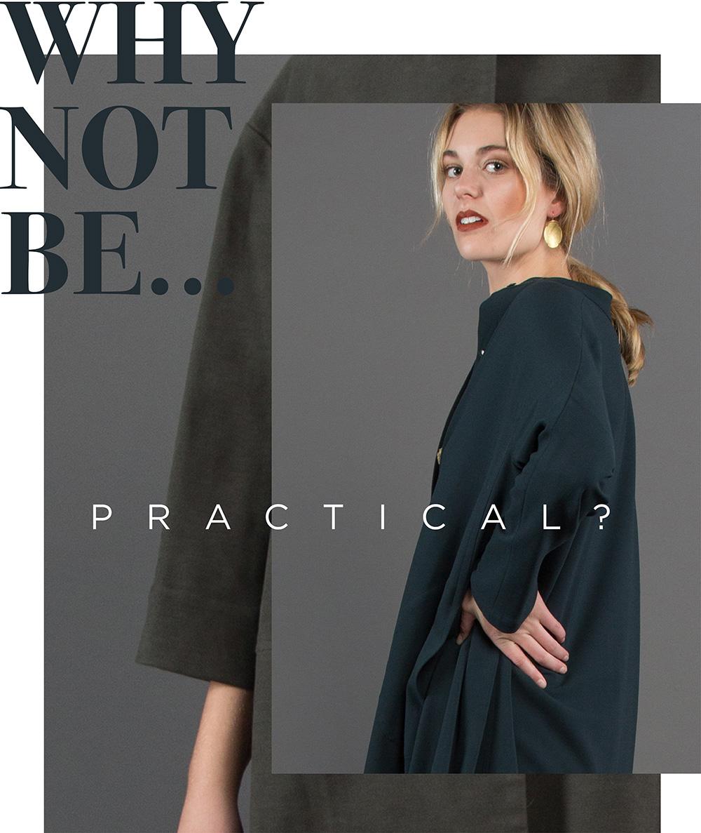 2750815319 Japan Dress in Dark Green Wool $895