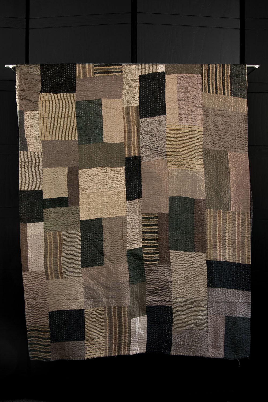 Kantha Stitched Silk Quilt  $1,250