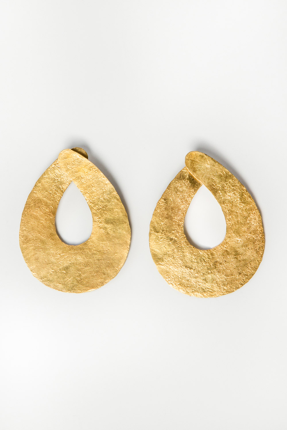 Philippine Oval Loops Brass Earrings  $595