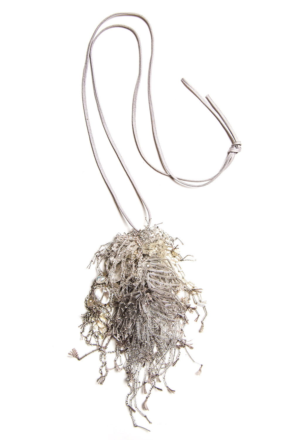 Turtle Forest Grey Cluster Necklace  $2,900