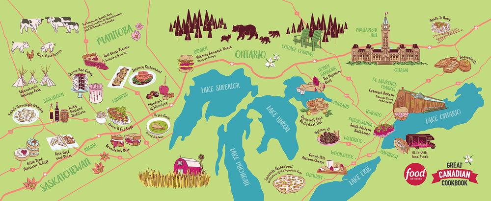 Great Canadian Cookbook - Prairies & Ontario