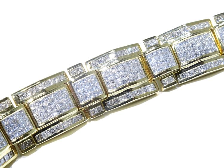 14k Yellow Gold Princess Cut VS Quality 19 00ct Clean Diamond