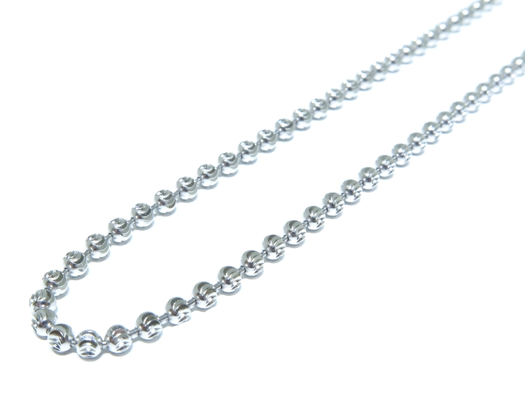 6f18287cbf51c 10k Hollow White Gold Moon Cut Link Chain 15.1 Grams — George the ...