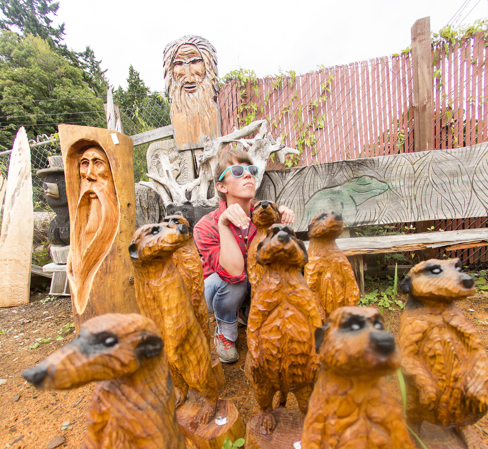 Get your carve on george kenny s chainsaw carving school