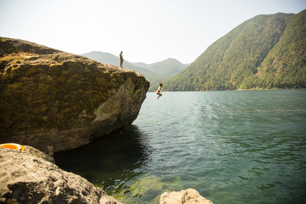 Lake Cushman's Big Rock
