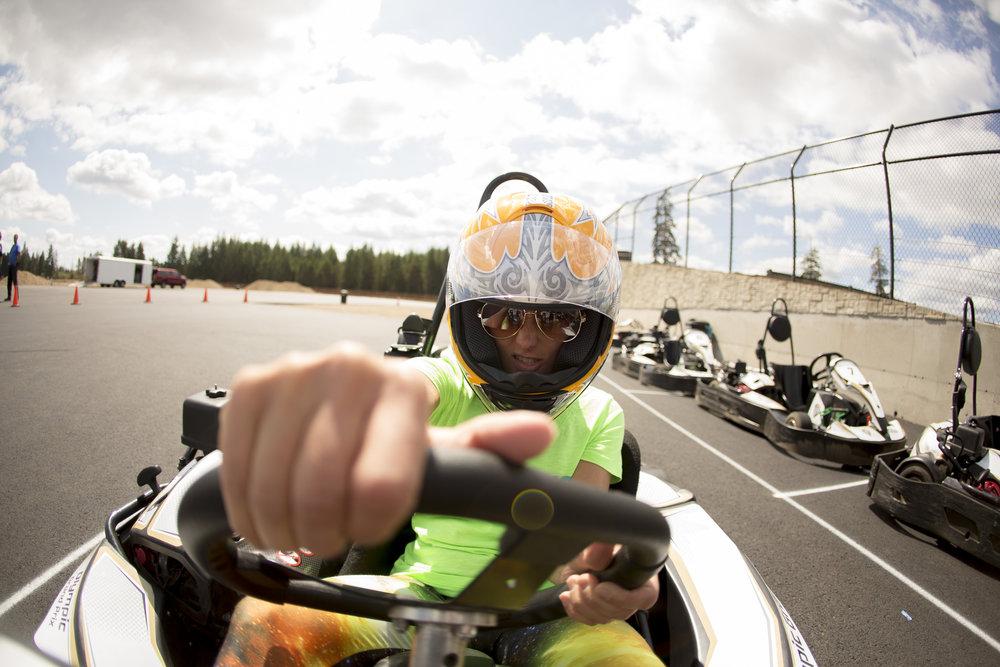 Go karting at The Ridge Motorsports Park