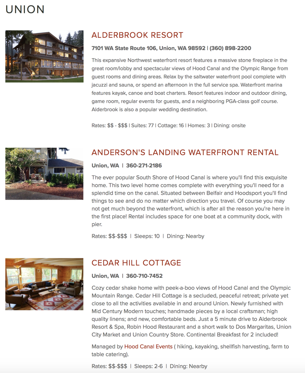 Click here to view a list of area lodging