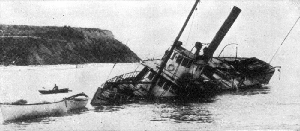 Dode, wrecked in Puget Sound, 1910