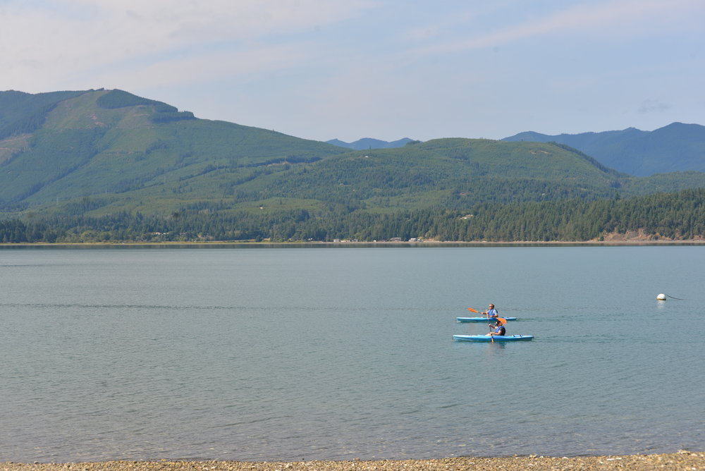 Paddling on Hood Canal