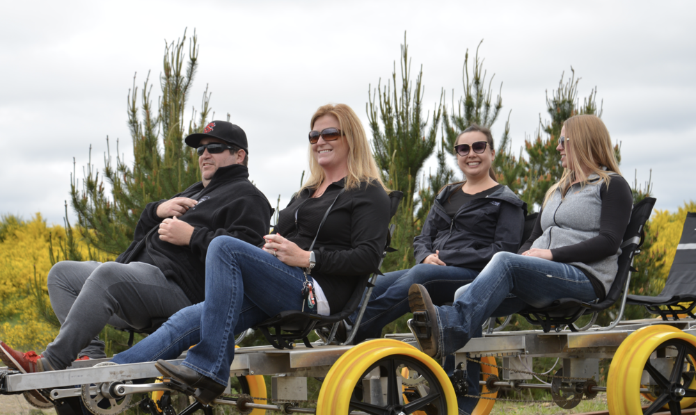 Vance Creek Railriders, offering peddle tours in Shelton