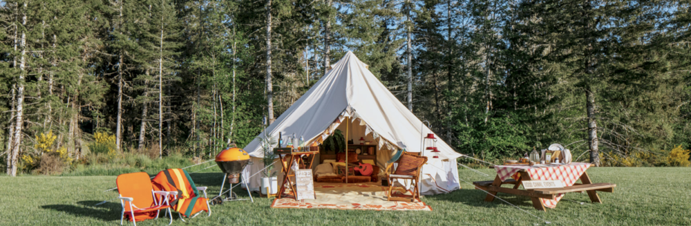 "The ultimate ""glamping"" experience can be provided by     Hood Canal Events     located in Union, WA. For a fee they can arrange the perfect getaway for you and your signifigant other – or the whole family. From setting up the camp & tent (pictured above) in a spectacular location, arranging tours, hikes or kayaking expeditions, to chef prepared gourmet meals in your camp – Jeff and Kerry can take care of it all for you. Call them directly at (360) 710-7452 or visit  hoodcanalevents.org.   Photo Poppi Photography"