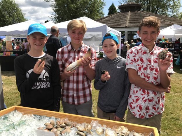 Stop at the Pacific Coast Shellfish Growers to learn all about local shellfish - including the geoduck! photo:   PCSGA 2017
