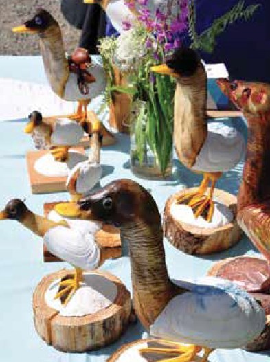 Pick up one of these at Trails End Wildlife Creations vendor booth !(replica geoducks) photo: Joyce Bosley
