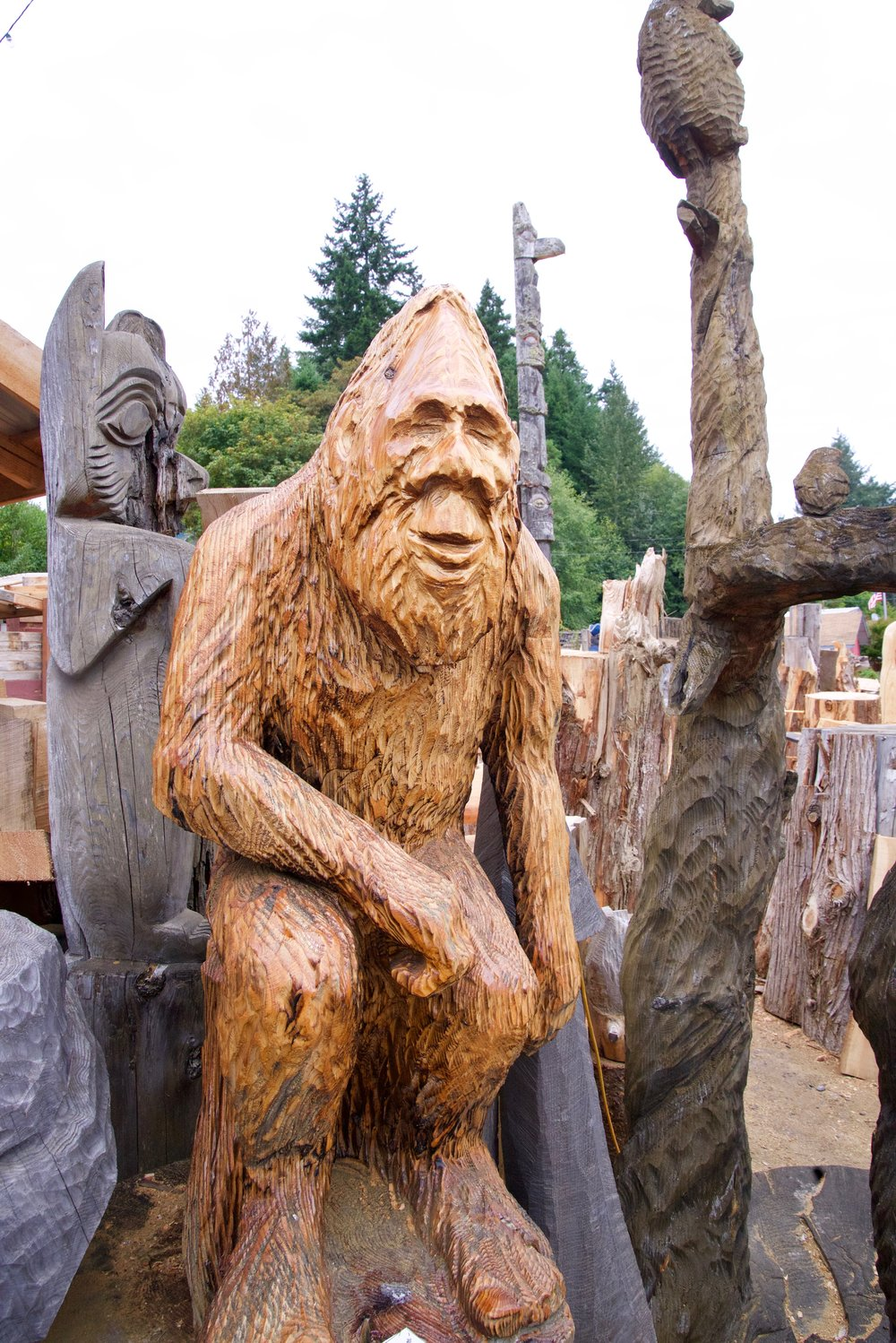 Stop by    Bear in a Box    in Allyn WA for some amazing squatch art.