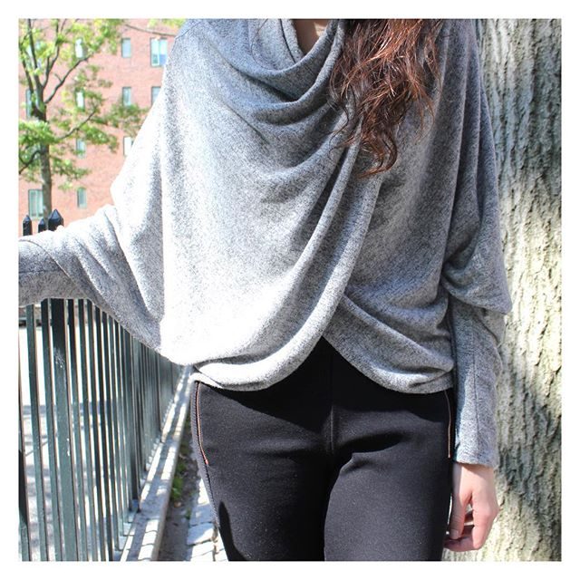 Stay cozy and in style in our Wrap Sweater #StreetStyle #OutfitOfTheDay #vanityroom #madeinny