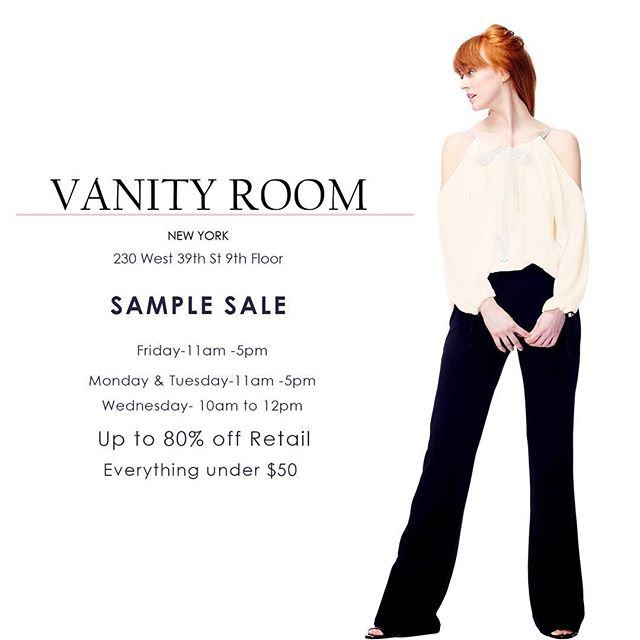 We love sales!! Visit us today for the best offers #vanityroom #madeinny #samplesale
