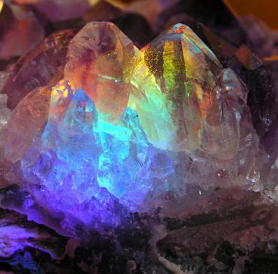 Chakra vogel crystal (not cut)