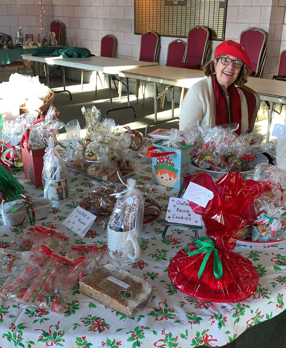 Some of the home-made items contributed by our many volunteer bakers for sale at the event.