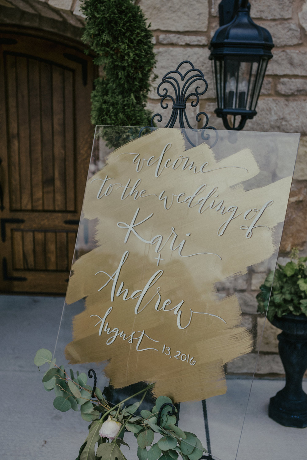 Acrylic Welcome Sign, photo by the Rowlands