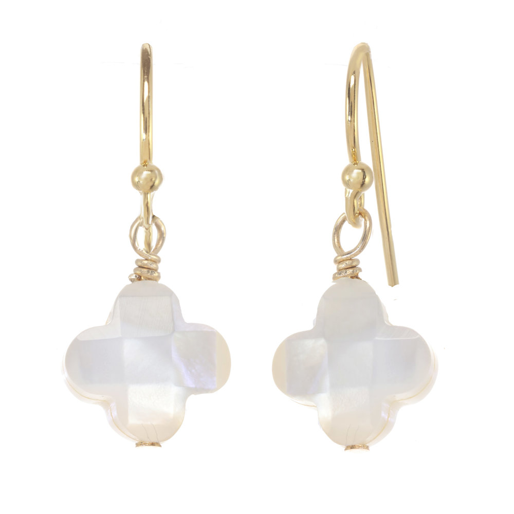A.V. Max Mother-of-Pearl Link Drop Earrings hk2mt8