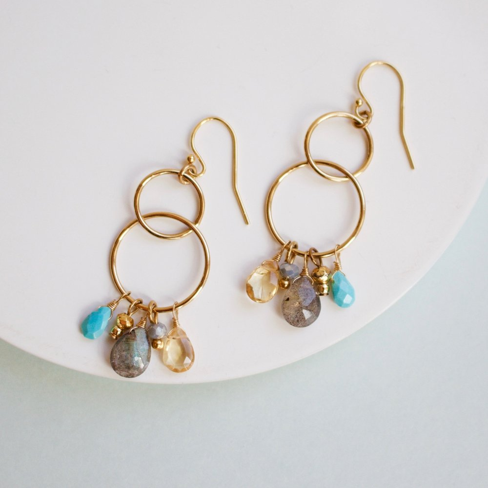 A.V. Max Semiprecious Stone Cluster Earrings