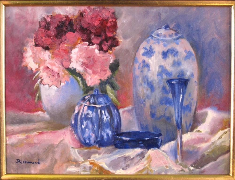 Peonies & Blue Porcelain