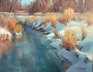 """Willow Creek"", 11x14"" oil on linen panel"