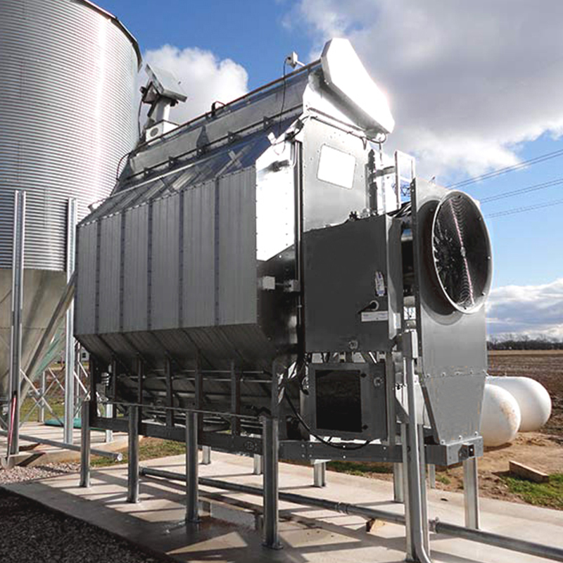 Example of grain dryer where burner probes are commonly found.