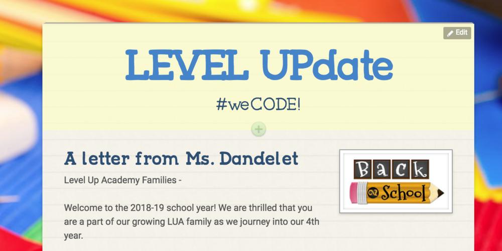 LEVEL UPdate - The LUA Newsletter