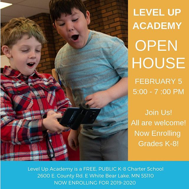 Prospective families and students are invited to join us at our Open House on Tuesday, February 5. Come anytime between 5-7:00 pm. Meet our teachers! Take a tour! Join a presentation! Play games! Learn to code! See what LUA is all about!