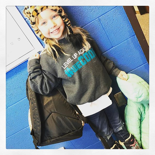When we see #LUA kids sporting our #weCODE spirit wear with a smile - smiling is contagious. See what I mean? #weCODE #LUAcommunity #kindergartenstyle