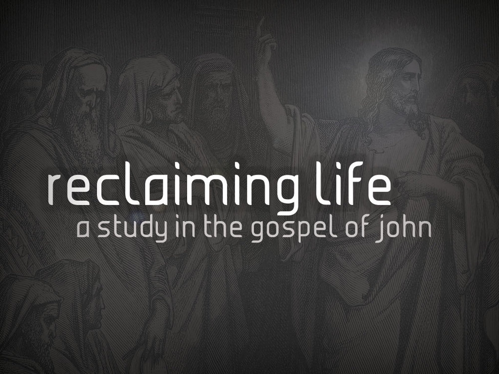 Reclaiming Life (Gospel of John)  April, 2014 - August, 2015